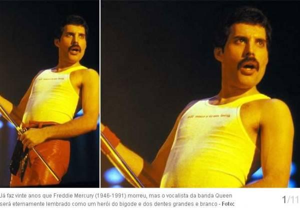 Já faz vinte anos que Freddie Mercury (1946-1991) morreu, mas o vocalista da banda Queen será eternamente lembrado como um herói do bigode e dos dentes grandes e branco